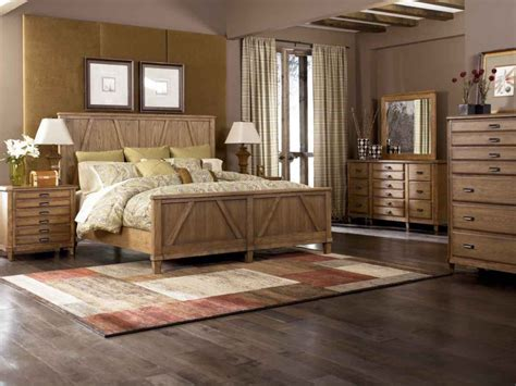 Rustic 5pc King Costco Bedroom Set With 6 Drawer Maple