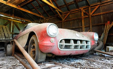 amazing barn finds amazing barn find 57 corvette roadster tv