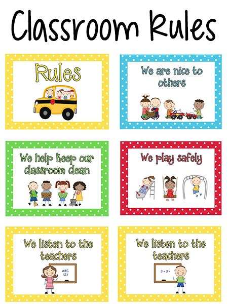 classroom rules template pre k classroom rules prekinders