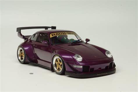 porsche rwb purple gt spirit scale 1 18 porsche 911 993 rwb purple