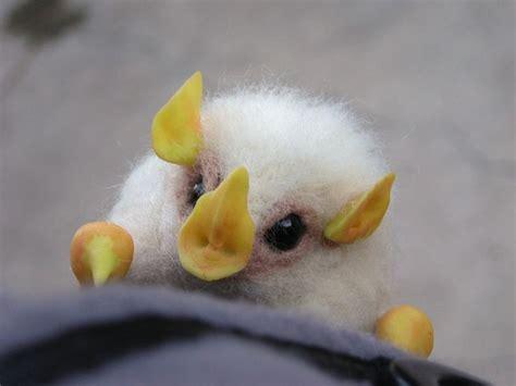 bat brooch honduran white bat cute animals rare animals cute bat