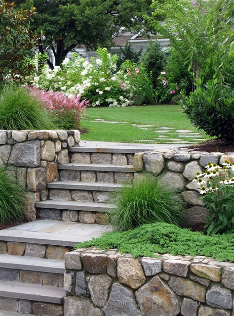 stone stairs   irregular stepping stone path lead