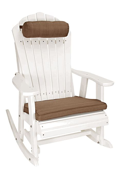 outer banks deluxe poly lumber adirondack rocking chair