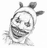 Clown Twisty Horror Drawing American Scary Drawings Clowns Story Coloring Deviantart Evil Pages Freak Zombie Ahs Sketches Tattoo Adult Img10 sketch template