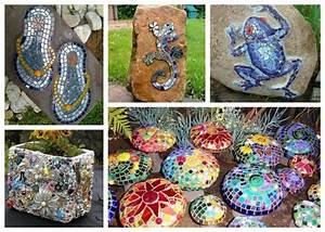 Basteln Mit Steinen : 10 tolle ideen steine im garten mit mosaik dekorieren ~ Watch28wear.com Haus und Dekorationen