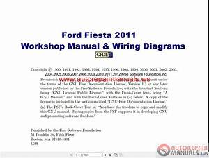 Ford Fiesta 2011 Workshop Manual  U0026 Wiring Diagrams