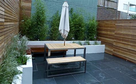 Modern Wooden Benches by Clapham Small Garden Design London Garden Blog