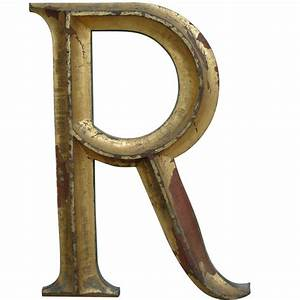 19th c gilded cast iron letter quotrquot at 1stdibs With cast iron letters