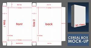 layout With design your own cereal box template