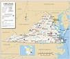 Map of the Commonwealth of Virginia, USA - Nations Online ...