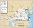Reference Maps of Virginia, USA - Nations Online Project