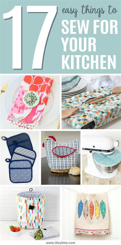 17 Easy Things To Sew To Spice Up Your Kitchen  Ideal Me