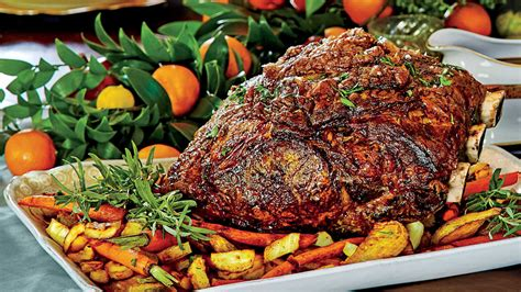 9 christmas vegetable side dishes to steal the show. Peppercorn-Crusted Standing Rib Roast with Roasted Vegetables - Southern Living