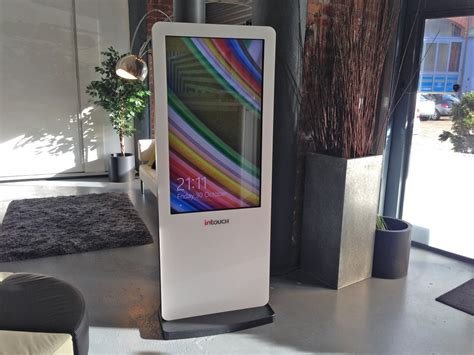 1380mm (54.3″)h x 390mm (15.3″)w x 395mm (15.5″)d • weight: freestanding-touch-kiosk - The World of Hospitality