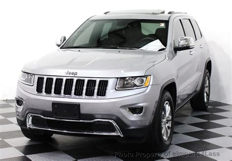 used jeep cherokee 2014 used jeep grand cherokee certified grand cherokee 4wd