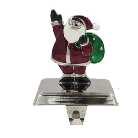 trim a home 174 6in colored santa christmas stocking holder