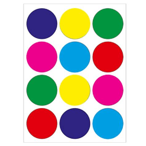 colored circle stickers colored 1 1 2 quot circle stickers stickers for