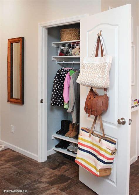 Small Hallway Closet Organization Ideas by Organized Coat Closet Makeover Home Decor Hallway