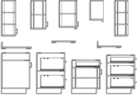 Which Is A Section Of A Cabinet Department - 28 2d cad kitchen cabinet detail kitchen which is a