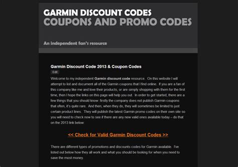 garmin discount code  website launched  promo codes