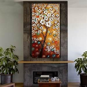Toile De Mur : hot sale fleur abstraite peinture l 39 huile couteau peinture sur toile mur de toile art photo ~ Teatrodelosmanantiales.com Idées de Décoration