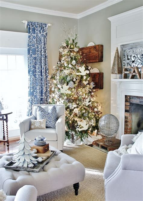 Christmas Tree White Decorations by A Blue Blue Christmas Style Series The Happy Housie
