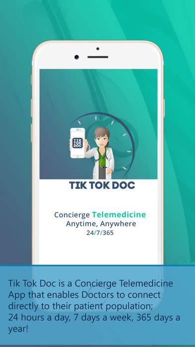 tik tok doc concierge telemedicine app