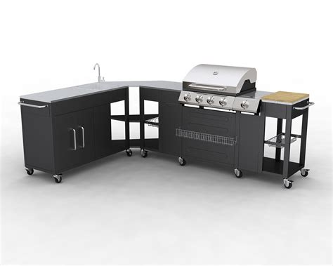 barbecue gaz inox grand meuble cuisine exterieur