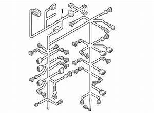 Volkswagen Touareg Engine Wiring Harness  3 0 Liter  Telematics  Lighting  Group  Electrical