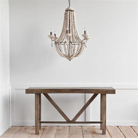 white washed wooden chandelier centuria