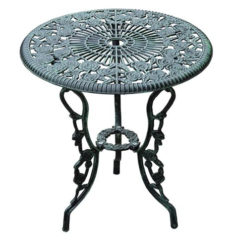 outsunny 3pc outdoor cast iron bistro set table chair
