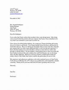 fashion design cover letter sample guamreviewcom With cover letter for fashion designer job
