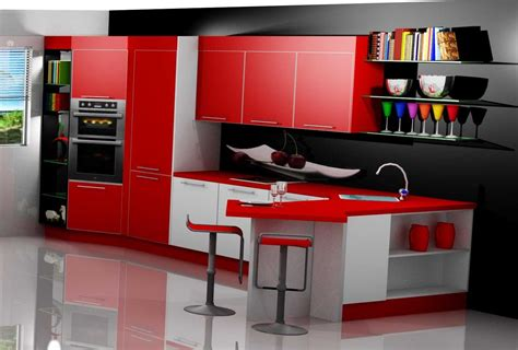 cocina en poliuretano aluminio ideas modelos cocinas rojo
