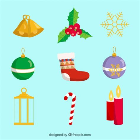 types  christmas decoration vector