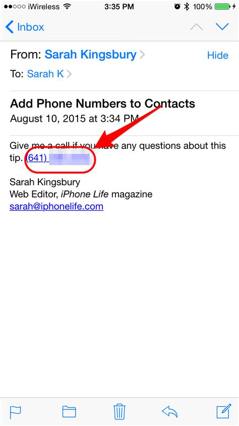 need phone number how to add phone numbers to contacts from mail