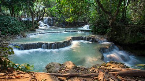 Erawan National Park Thailand Hd Wallpaper Backiee