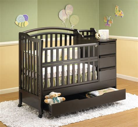 mini crib with changing table crib and changing table combo nursery ideas