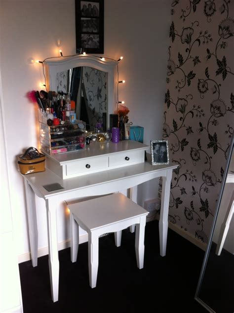 Vanity Table With Lights by My Dressing Table Or Vanity Area By Trying2bbeautiful On