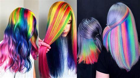 Best Hair Color Transformation Rainbow Hair