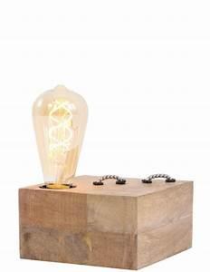 Lampe à Poser Bois : lampe poser en bois light living rinca ~ Teatrodelosmanantiales.com Idées de Décoration