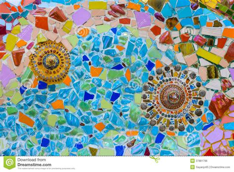 colorful mosaic art and abstract wall background royalty