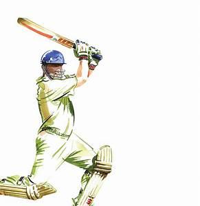 Cricket Player playing shot png image