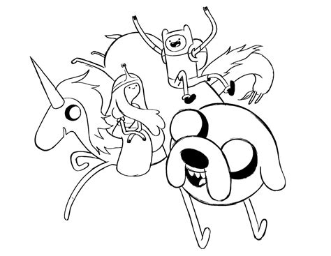 Coloring Pages Of Adventure Time - Costumepartyrun