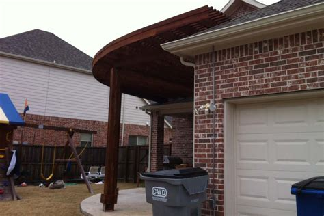 large rounded quarter arbor patio in allen
