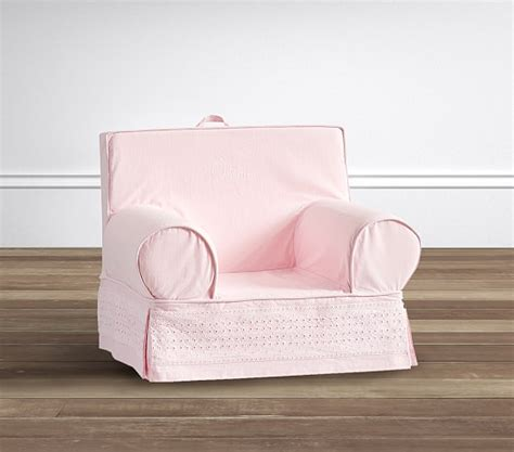light pink eyelet anywhere chair 174 pottery barn