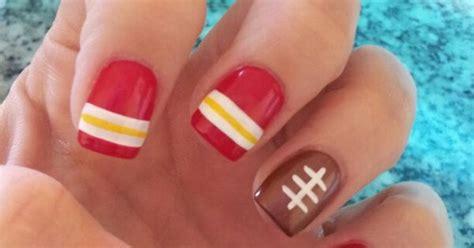 kansas city chiefs inspired nails nail art pinterest