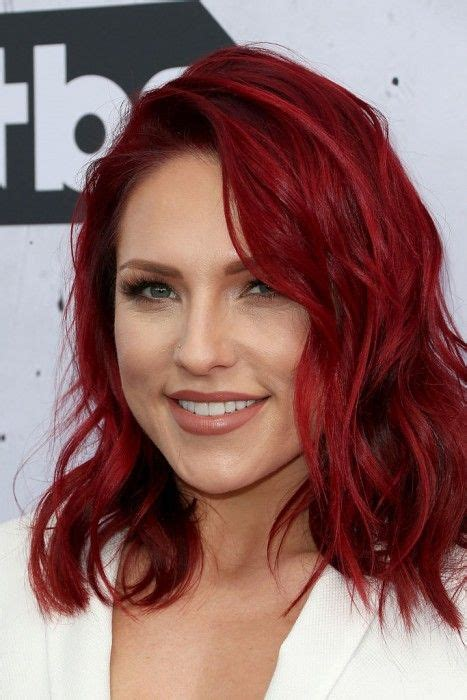 Dancing With The Stars Sharna Burgess With Fiery Red Hair