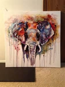 Colorful Elephant Paintings Acrylic