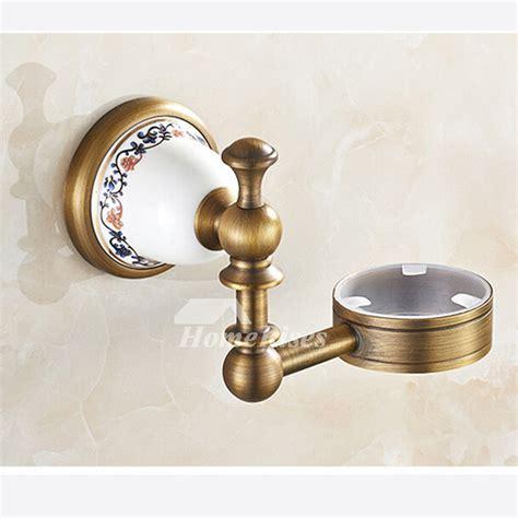 antique golden antique brass toilet brush holder