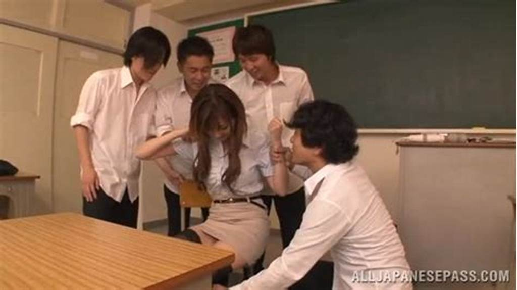#Japanese #Teacher #Gangbang